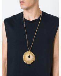 Damir Doma | Metallic Stone Pendant Necklace for Men | Lyst