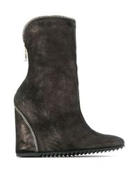 UMA | Raquel Davidowicz | Brown Wedge Boots | Lyst