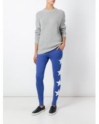 Zoe Karssen - Blue Embroidered Star Track Pants - Lyst