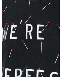 Zoe Karssen - Black Embroidered Match Sweatshirt - Lyst