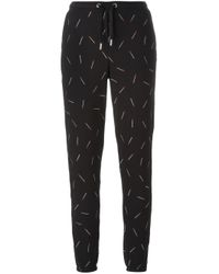 Zoe Karssen - Black Embroidered Match Track Pants - Lyst