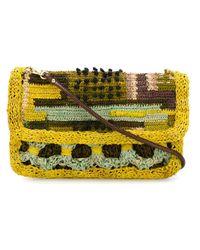 Jamin Puech - Green Flap Opening Crossbody Bag - Lyst
