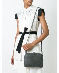 Bottega Veneta - Gray Woven Leather Cross-Body Bag - Lyst