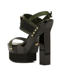 Versace Green Medusa Platform Sandals