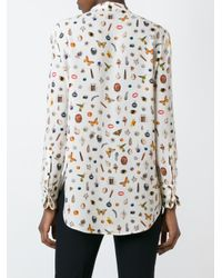 Alexander McQueen Multicolor Obsession Print Shirt