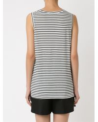 Andrea Marques - Black Striped Tank Top - Lyst