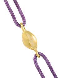 Natasha Collis | Black Handmade 18kt Yellow Gold Nugget Friendship Bracelet | Lyst