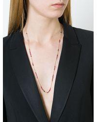 Natasha Collis Metallic Ruby And Spinel Necklace