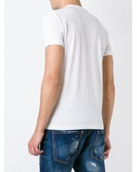 DSquared² - White 'dyed Rules' T-shirt for Men - Lyst