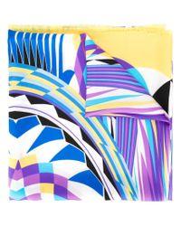 Etro Multicolor Abstract Print Scarf