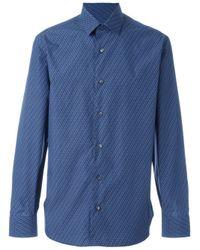Ferragamo | Blue Printed Shirt for Men | Lyst