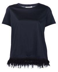 Dorothee Schumacher Black Frayed Hem T-shirt