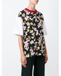 Marni - Black Ribbed Crew Neck T-shirt - Lyst