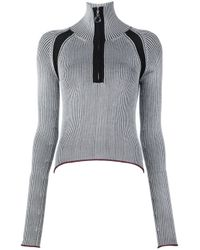 Edun | Black Rib Collared Sweater | Lyst