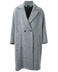 Fad Three | Black Double Breasted Coat | Lyst