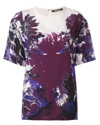 Roberto Cavalli | Multicolor Floral Print T-shirt | Lyst