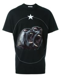 Givenchy Black Monkey Brothers T-shirt for men
