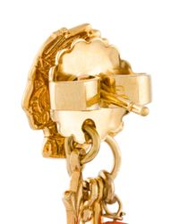 Gas Bijoux Metallic 'sioux' Feather Earrings