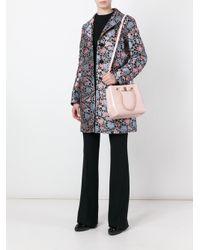 Etro - Black Floral Jacquard Trapeze Coat - Lyst
