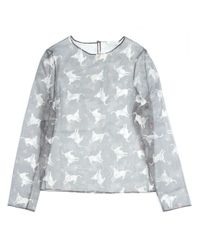 J.W.Anderson | Gray Donkey Print Sheer Top for Men | Lyst