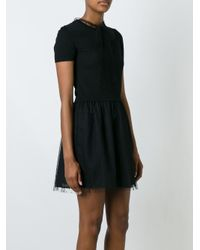 RED Valentino Black Flared Tulle Dress