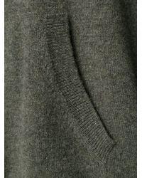 Nili Lotan - Gray Hooded Sweater - Lyst