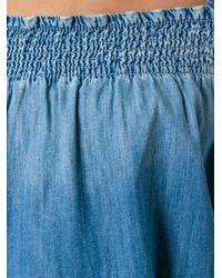 Current/Elliott - Blue 'madeline' Top - Lyst