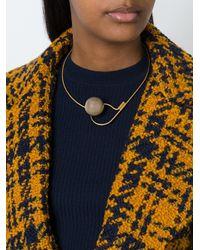 Marni | Black Sphere Pendant Necklace | Lyst