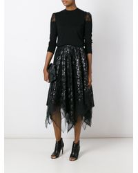 Marc Le Bihan - Black Sequined Skirt - Lyst