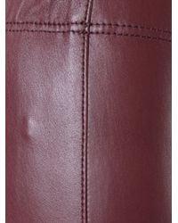 JOSEPH - Black Skinny Leather Trousers - Lyst