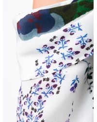 Erdem - White Printed Cut-off Shoulders Blouse - Lyst