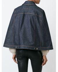 Givenchy - Blue Denim Cape Jacket - Lyst