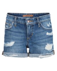 Joe's Jeans | Blue Rolled Denim Shorts | Lyst