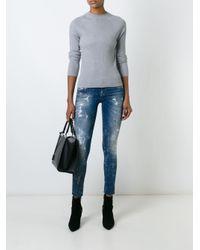 DIESEL - Black Distressed Skinny Jeans - Lyst