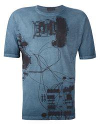 Diesel Black Gold | Blue 'tastersiu X-ray' T-shirt for Men | Lyst