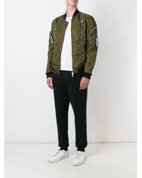 DSquared² - Green Zip Detail Bomber Jacket for Men - Lyst
