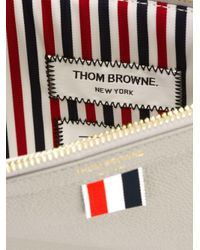 Thom Browne - Gray Zipped Flat Clutch for Men - Lyst