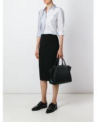 Victoria Beckham Black Midi Pencil Skirt