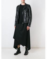 Moohong - Black Asymmetric Skirted Trousers - Lyst