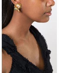 Dolce & Gabbana - Metallic Bee Clip-on Earrings - Lyst