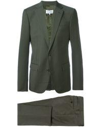 Maison Margiela Green Classic Two-piece Suit for men