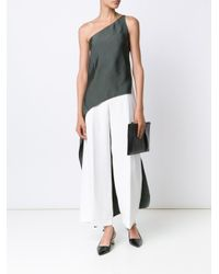 Narciso Rodriguez Gray One-shoulder Top