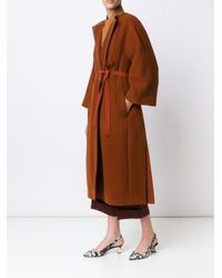 Narciso Rodriguez Blue Belted Robe Coat