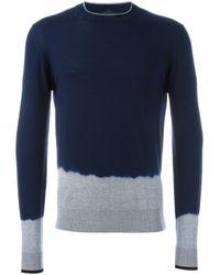 Lanvin | Blue Dip Dye Effect Jumper for Men | Lyst