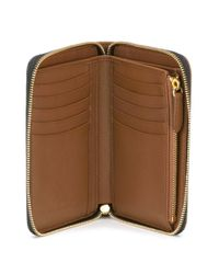 Burberry - Brown Elmore Horseferry Check Wallet - Lyst