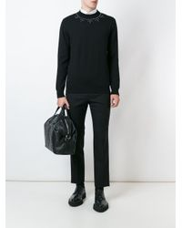 Givenchy Black Embellished Jumper for men