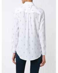 Equipment - White Anchor Print Shirt - Lyst