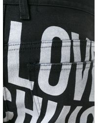 Love Moschino - Black Rear Print Slim Fit Jeans for Men - Lyst