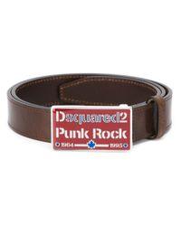 DSquared² - Brown Punk Rock Buckle Belt for Men - Lyst