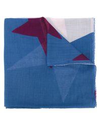 Stella McCartney Blue Star Print Scarf